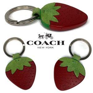Coach Strawberry 🍓 Keychain Rare Vintage Fob